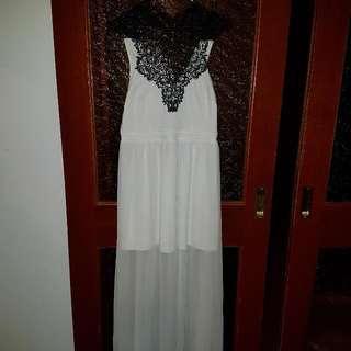 ALLY Long White Formal Dress