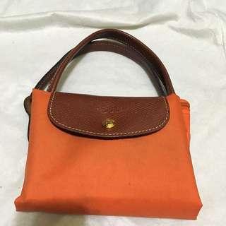 Longchamp 短把 M 橘色