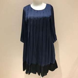 Blue Navy Satin Mini Dress