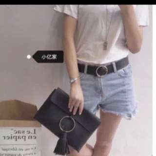 Black Hand Carry Clutch Bag