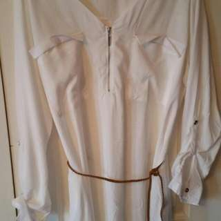 Blouse With Belt Size 1X
