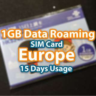 1GB Europe Data Roaming SIM Card