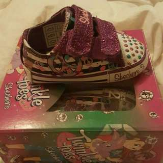 Size 2 baby girl twinkle toes by sketchers