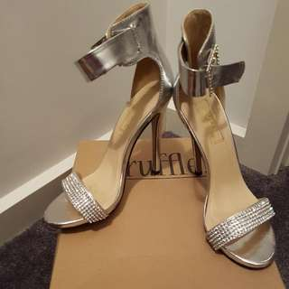 Worn Once Silver Metallic Heels