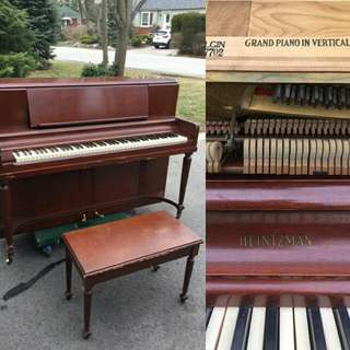 Vintage Heintzman Vertical Grand Piano