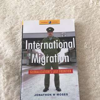 International Migration Globalization's Last Frontier