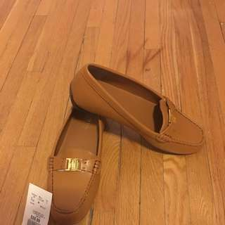 Ralph Lauren Tan Leather Loafers