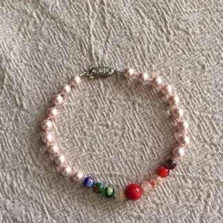 Handmade Pearl & Glass Bead Bracelet