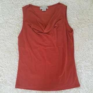 Cowl Neck Sleeveless Shirt