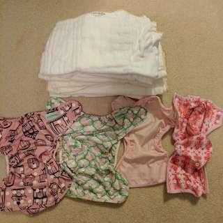 Cloth Diaper Covers And Grovia Prefolds