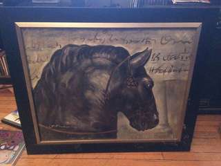 Beautiful, framed horse painting