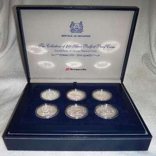 Singapore 1993-2004 Complete Set of 12 pcs Second Zodiac Series 2 oz Piedfort Silver Proof $10 Coins