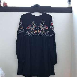 BOO HOO SMOCK DRESS