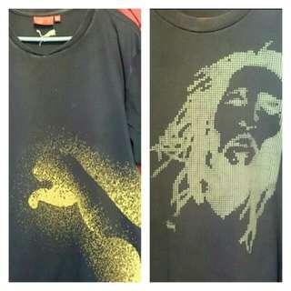 Original PUMA & Stussy Bob Marley Digital Art Shirt