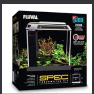 Fluval Spec Aquarium Kit - Black/white - 10 L (2.6 US gal)