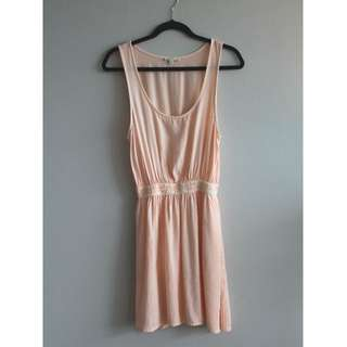 Sz XS - Talula Peach Waistband Dress