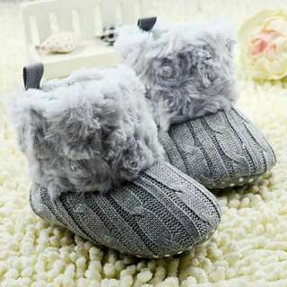 Grey Baby Boots Prewalker