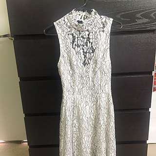Keepsake The Label White Lace Dress Size S