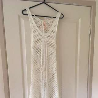 White Crochet Festival Dress