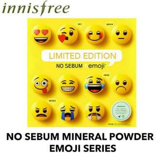 INNISFREE No Sebum Mineral Powder Emoji Emoji Edition