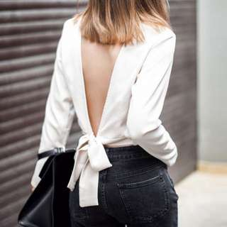 LOOKING FOR Bow Back Top