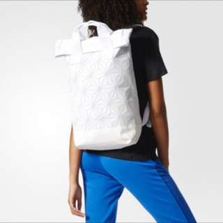 ADIDAS ISSEY MIYAKE ROLL UP BACKPACK IN WHITE