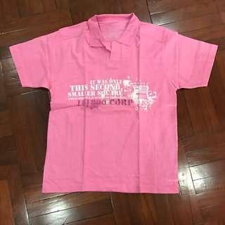 Baju Polo Tulisan Pink