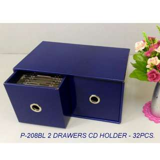 2 DRAWERS CD BOX ( FOR 32PCS CD)