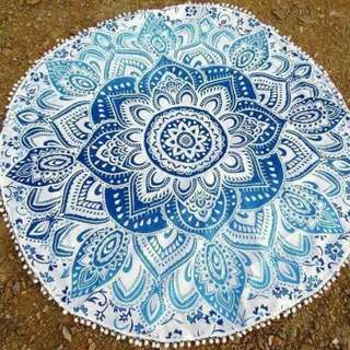 Mandala Beach Mat/towel with Tassel
