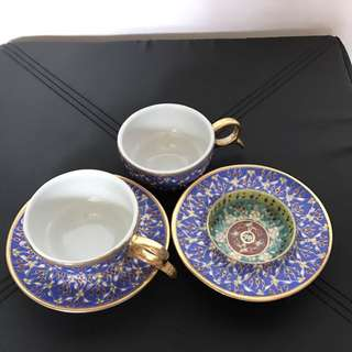 Hand Painted Cup & Plate (2 Sets) 手繪杯碟兩套