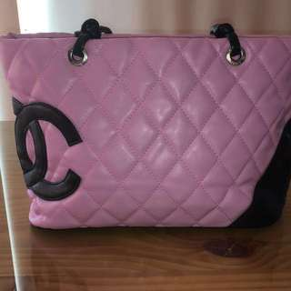 Pink And Black Chanel Authentic Bag