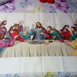 UNFRAMED LAST SUPPER CROSS STITCH