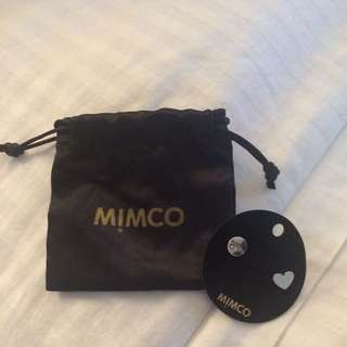 Mimco Take two Heart Studs In Strerling Silver