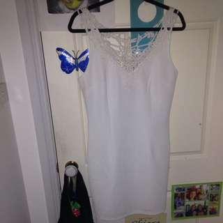 Short White Lace Dress