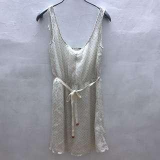 🚚 近全新-ZARA點點綁帶洋裝