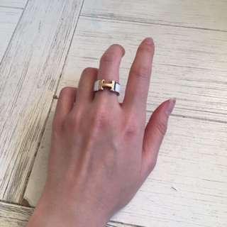 Rose Gold H Ring