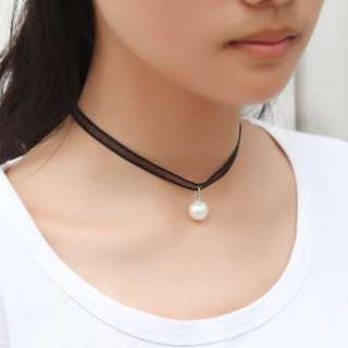 Sheer Ribbon Pearl Choker