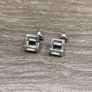 CK 方型3D耳環