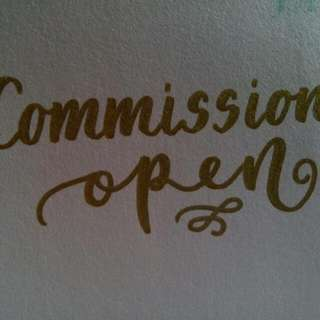 ❤ Calligraphy Commissions Open! ❤