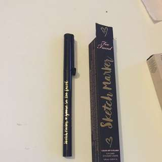 Too Faced Sketch Marker Liquid Art Eyeliner AUTH BNIB