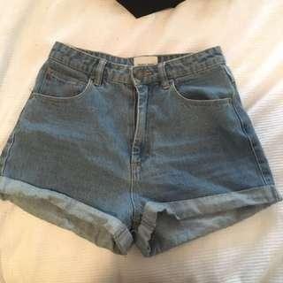 Blue Abrand Shorts