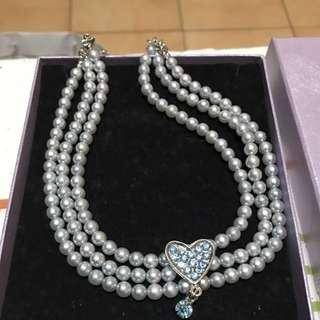 🚚 藍色珍珠項鍊 晚宴 餐聚