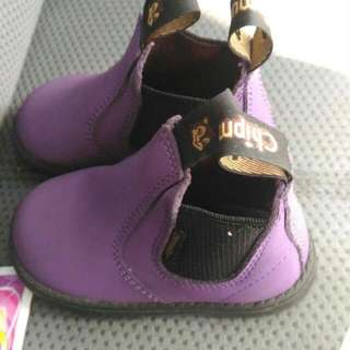 Purple Chipmunks Boots Size UK 4