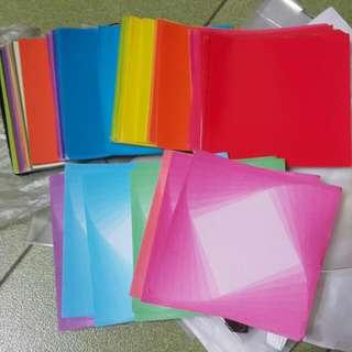 雲彩紙跟彩色紙