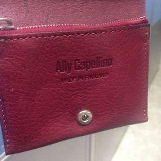 🚚 芥末黃/酒紅 男女短夾 購於英國精品店 Ally Capellino
