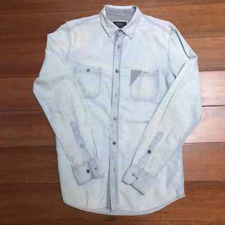 PULL&BEAR Light Blue Denim Shirt