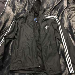 Adidas Striped Windbreaker