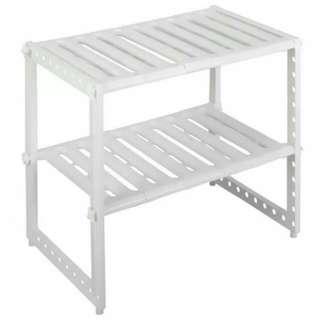 Extendable Under Sink Rack (White)