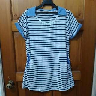 藍白條紋連身衣