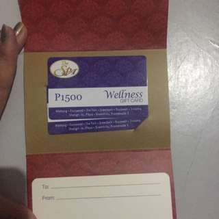 The SPA Wellness Gift Cards